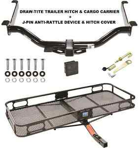 Trailer Hitch Cargo Basket Carrier Silent Pin Lock Fits 08 14 Nissan Armada