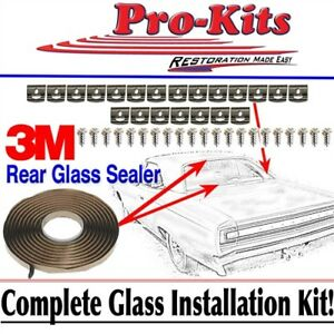 Mopar 68 69 70 Roadrunner Gtx Coronet Rear Window Glass Clip Installation Kit