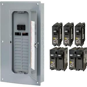 New Square d 100 amp 24 space 48 circuit Indoor Main breaker Panel Load center