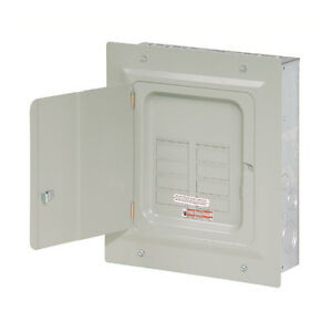 Small Eaton 125 amp 6 space 12 circuit Wall Indoor Load breaker Electrical panel