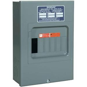 Squared Homeline 100 amp 6space 12 circuit Indoor Main breaker Panel Load center