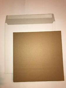 100 12 Lp White Record Mailers 150 Stiffeners free24h