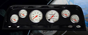 64 66 Chevy Truck Carbon Fiber Dash W Auto Meter 1300 Gauges