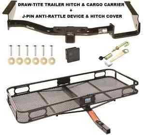 Trailer Hitch For 04 07 Toyota Highlander Cargo Basket Carrier Silent Pin
