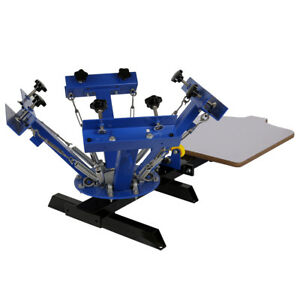 4in1 Station Silk Screen Printing Machine T shirt Paper Press Equipment