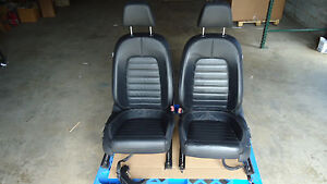 2009 2014 Oem Volkswagen Vw Cc Front Black Leather Seats With Power