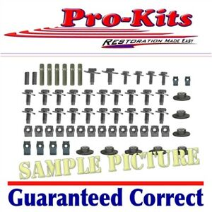 Mopar 68 69 70 Roadrunner Gtx Satellite Fender Bolt Nut Clip Stud Kit New