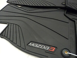 Mazda 3 Skyactiv 2014 2017 Oem Black All Weather Rubber Floor Mats 0000 8b l82