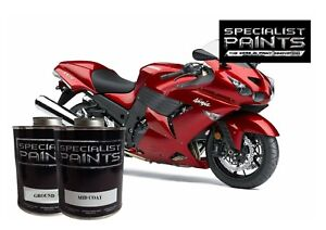 Pint Of Kawasaki Candy Persimmon Red Paint Motorcycle Automotive