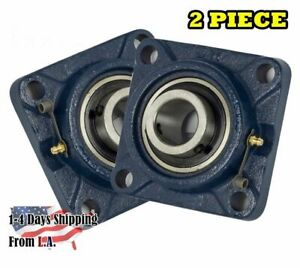 Ucf209 28 Pillow Block Flange Bearing 1 3 4 Bore 4 Bolt Solid Base 2pcs