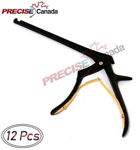 Precise Canada Set Of 12 Pcs Kerrison Rongeurs 7 Upward With Black Coating