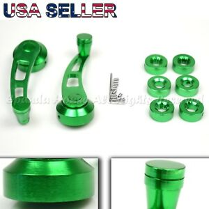 For Old Vw 4 7 Aluminum 2 Hole Usa Anodized Green Window Cranks Winders Diy