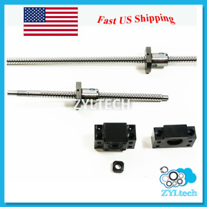 Zyltech Precision true C7 Ball Screw 12mm 1204 W Bf bk10 End Support 250mm