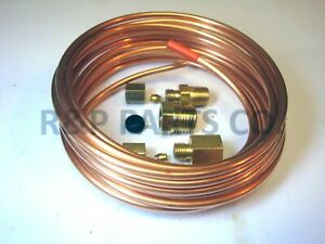 Mechanical Oil Pressure Gauge Copper Tubing Line Kit 1 8 Od X 16 Abc523