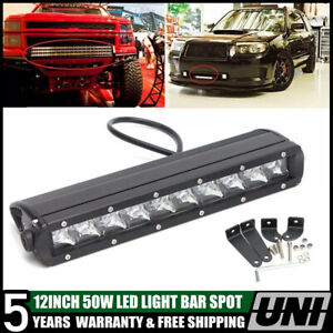 50w 11 12inch Single Row Led Light Bar Spot Offroad Jeep Suv Boat Bumper