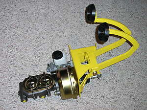 Universal Power Brake Booster Clutch Pedal Master Cylinder Assembly Street Rod