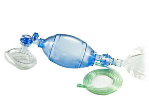 Manual Resuscitator 1500 Ml Pvc Adult Ambu Bag Oxygen Tube Cpr First Aid Kit