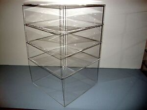 Acrylic Lucite Countertop Display Case Showcase Box Cabinet 12 X 12 X 19