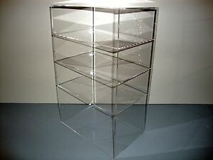 Acrylic Lucite Countertop Display Case Showcase Box Cabinet 12 X 8 X 19