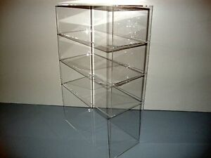 Acrylic Lucite Countertop Display Case Showcase Box Cabinet 12 X 6 X 19