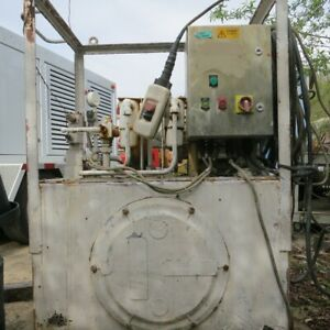 50 Hp Hydraulic Power Unit 3 000 Psi 170 Gal Tank Vg Cond Baltimore Maryland
