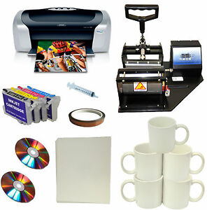 Diy Mug Heat Press epson Printer bulk Ink refil Cartridge mug transfer Paper Kit