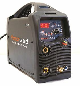 Razorweld 200amp Digital Ac dc Tig Stick Welder Pulse 115v 220v Dual Voltage