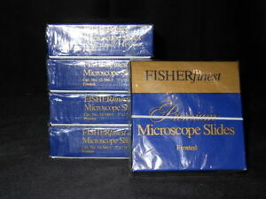 Fisher Scientific Premium Frosted Microscope Slides 5 Boxes Of 72 360 Total