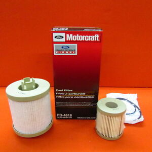 03 07 6 0l Powerstroke Diesel Genuine Ford Motorcraft Fuel Filter Kit Fd 4616