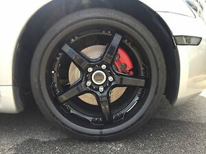 Volk Rays Racing Gts 19 Wheels W Tires 5x114 Two Piece Staggered