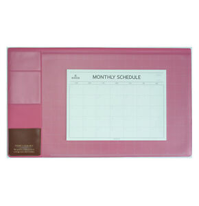 10day Shipping Basic Hot Pink Desk Pad 22x13 With Monthly Schedulers