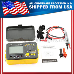 Vc60b Digital Insulation Resistance Tester Megger Megohm Meter Usa Seller