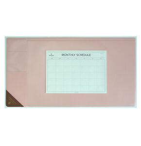 10day Shipping Wide Vintage Desk Pad Pink 25x13 With Monthly Schedulers