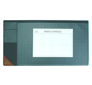10day Shipping Wide Vintage Desk Pad Gray 25x13 With Weekly Schedulers