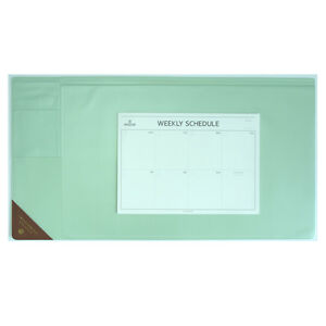 10day Shipping Wide Vintage Desk Pad Mint 25x13 With Weekly Schedulers