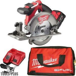 Milwaukee 2730 21 M18 Fuel 6 1 2 Circular Saw Kit New
