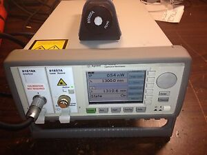 Agilent 8163b With 81624a Optical Head 81618a 81651a 1550nm Laser Source