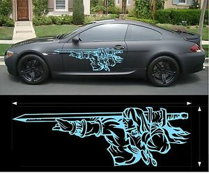 Vinyl Graphics Decal Kits Man With Sword Car Truck Custom Size Color F1 45