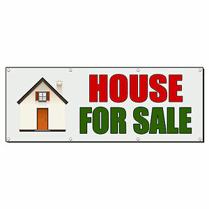 House For Sale Real Estate Banner Sign 3 Ft X 6 Ft w 6 Grommets