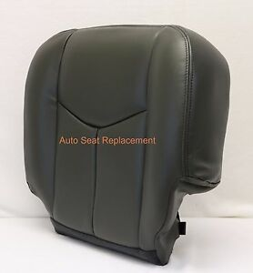 2003 2004 Chevy Silverado 1500 2500 Driver Synth Leather Seat Cover Dark Gray