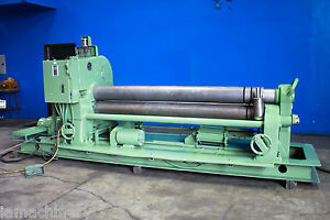 Lown Initial Pinch Power Plate Bending Roll 3 8 X 8 Sheet Metal Roller 7305