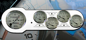 53 54 Chevy Car Dash Insert W 1601 Auto Meter Gauges