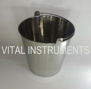 Stainless Steel Bucket Pail 20 Qt Dog Kennel Farm Water Milk Feeding Heavy Duty