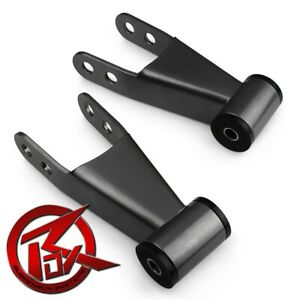 1 2 Rear Lowering Drop Shackles Pair For 07 18 Chevy Silverado 1500 Level Kit