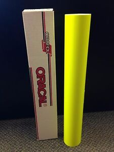 Oracal 6510 1 Roll 24 x5ft Fluorescent Yellow 029 Sign Vinyl