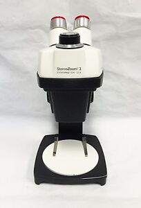 Bausch Lomb Stereozoom 3 Microscope On A Stand W Case And Cover