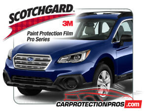 Subaru Outback 2017 3m Scotchgard Pro Clear Bra Paint Protection Film Bumper Kit
