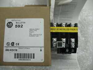 New Allen Bradley Overload Relay Block New In Box 592 kov16