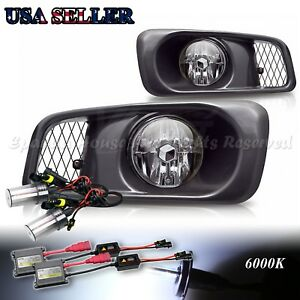 For 99 00 Honda Civic Si Type R Clear Lens Usa Fog Lights Assemblies 6000k Hid