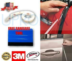 3m 4 Door Edge Guards Car Anti Scratch Paint Chip Uv Clear Protector Squeegee